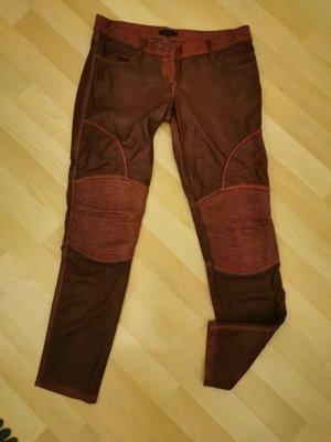 Denny Rose Pantalone a vita bassa bordeaux Tessuto misto