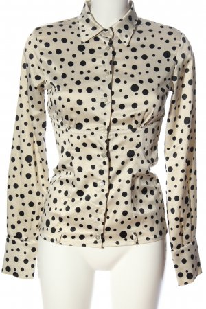 Denny Rose Long Sleeve Shirt natural white-black allover print business style