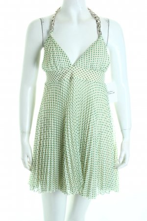 Denny Rose Halter Dress natural white-green spot pattern casual look