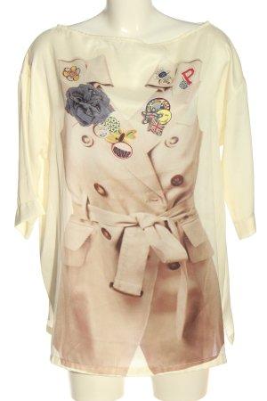 Denny Rose Oversized Blouse cream-brown color gradient elegant