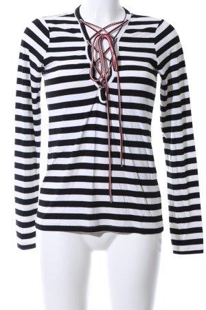 Denny Rose Ringelshirt schwarz-weiß Streifenmuster Casual-Look
