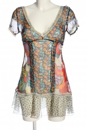 Denny Rose Transparent Blouse abstract pattern casual look