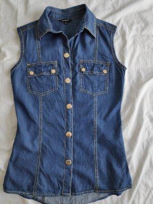 Denny Rose Gilet en jean bleu
