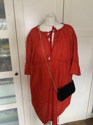 Department Five Vestido babydoll rojo oscuro-naranja oscuro