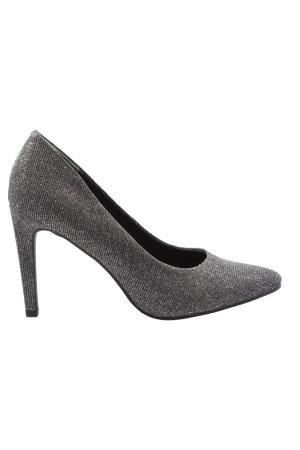 Depeche Classic Court Shoe silver-colored elegant