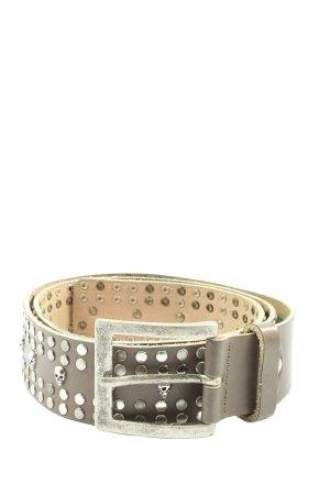 Depeche Cintura di pelle marrone-argento elegante