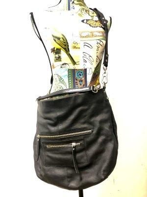 Depeche Crossbody bag black leather