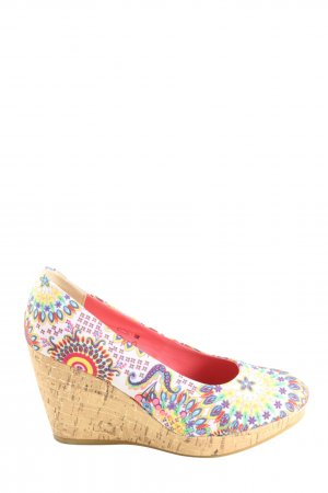 Depeche Wedge Sandals allover print casual look