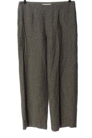 Depolo Pantalon «Baggy» noir-crème motif rayé style décontracté