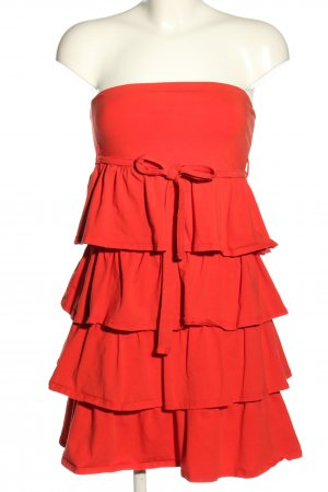 Dept Bandeaukleid rot Casual-Look
