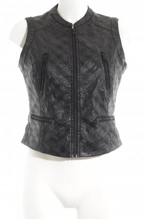 Dept Biker Vest black casual look