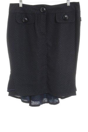 Dept Bleistiftrock schwarz-blau Punktemuster Casual-Look