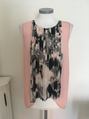 Dept Bluse Top Shirt rosa rose grau 36 S