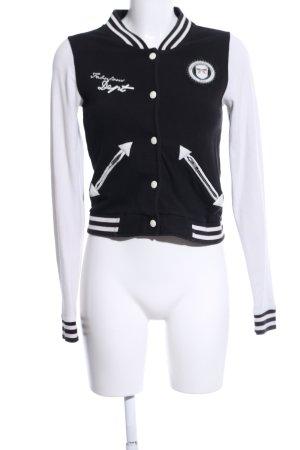 Dept Giacca college nero-bianco motivo a righe stile casual