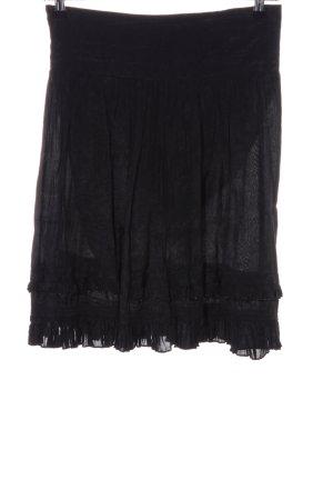 Dept Plaid Skirt black casual look