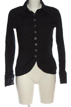 Dept Hemd-Bluse schwarz Casual-Look