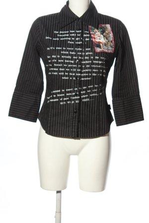 Dept Hemd-Bluse schwarz-weiß Allover-Druck Casual-Look