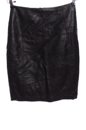 Dept Kunstlederrock schwarz extravaganter Stil