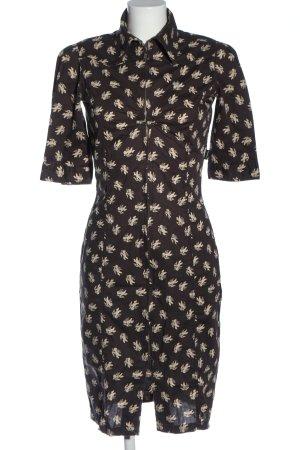 Dept Shortsleeve Dress brown-natural white allover print elegant