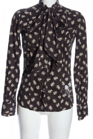 Dept Long Sleeve Shirt brown-cream allover print casual look