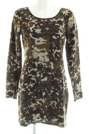 Dept Langarmkleid khaki-grün Camouflagemuster Casual-Look