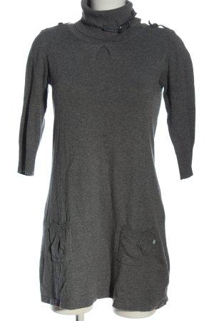 Dept Sweaterjurk lichtgrijs gestippeld casual uitstraling
