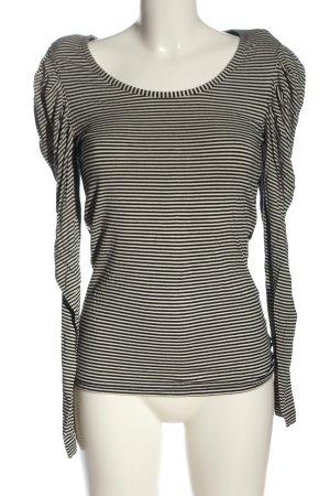 Dept Longsleeve black-white striped pattern casual look
