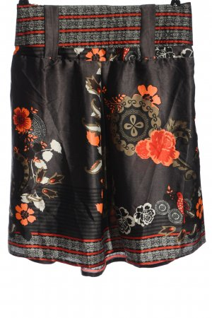 Dept Flared Skirt abstract pattern casual look