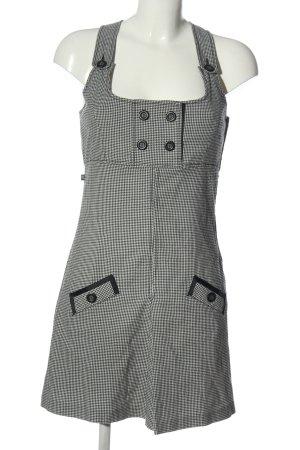 Dept Mini Dress white-black check pattern casual look