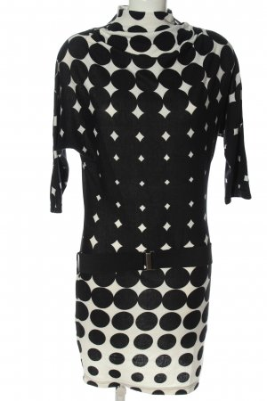 Dept Sweater Dress black-white allover print casual look