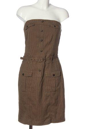Dept schulterfreies Kleid braun Allover-Druck Casual-Look