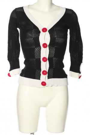 Dept Strickjacke schwarz-weiß Casual-Look