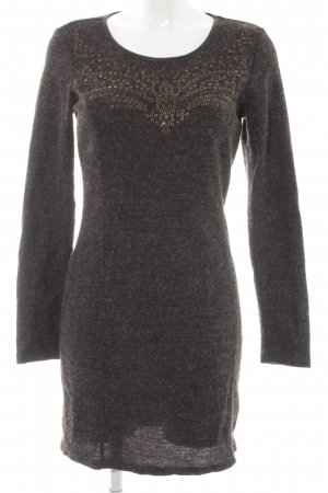 Dept Strickkleid dunkelgrau meliert Casual-Look