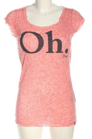 Dept T-Shirt pink meliert Casual-Look