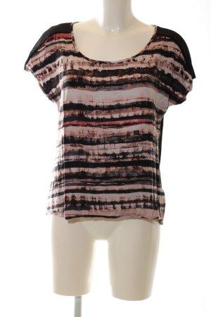 Dept T-Shirt schwarz-rot Allover-Druck Casual-Look