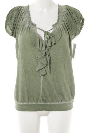Dept T-Shirt grasgrün Casual-Look