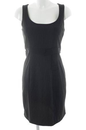 Dept Trägerkleid schwarz-hellbeige Streifenmuster Business-Look