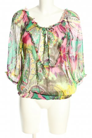 Dept Transparenz-Bluse abstraktes Muster Business-Look