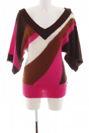 Dept V-Ausschnitt-Pullover Streifenmuster Casual-Look