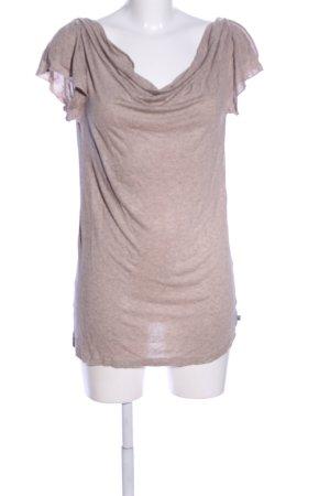 Dept Koszulka z dekoltem woda brązowy Melanżowy W stylu casual