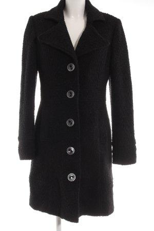 Dept Chaqueta de lana negro estampado de leopardo look casual