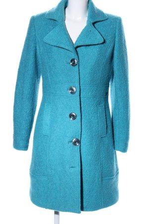 Dept Abrigo de lana turquesa look casual