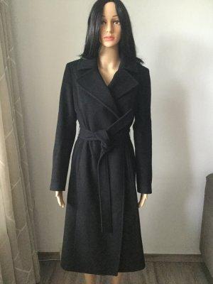KAREN MILLEN Wool Coat black alpaca wool