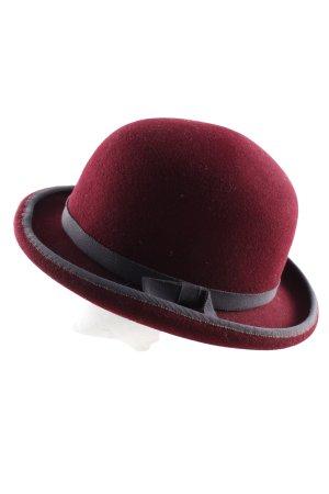 Der Hutsalon Chapeau melon rouge-gris clair élégant