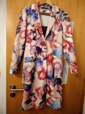 Robe manteau rose chair