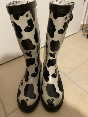 Wellington laarzen wit-zwart