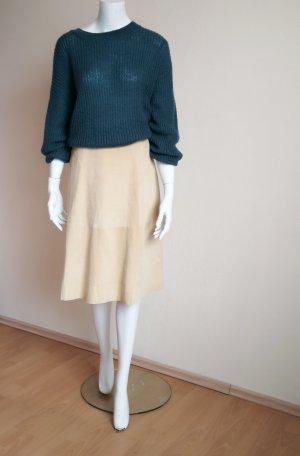 American Vintage Falda de cuero blanco puro