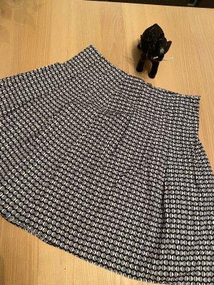 Marc O'Polo Plaid Skirt dark blue-white