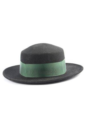 Der Wildschütz Chapeau en feutre noir-kaki style d'affaires