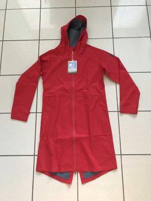 Derbe Manteau de pluie rouge-gris